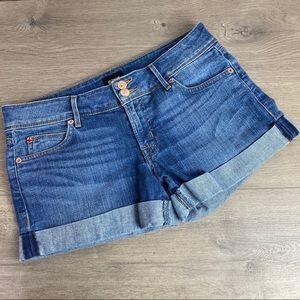 Hudson Croxley Mid Thigh Denim Shorts Sz.28